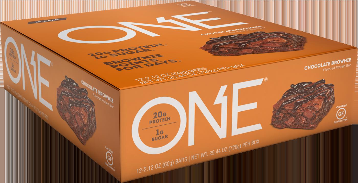 ONE Bars Chocolate Brownie Protein Bar | Box of 12