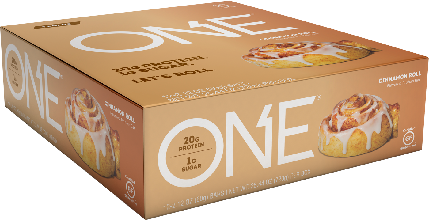 ONE Bars Cinnamon Roll Protein Bar | Box of 12