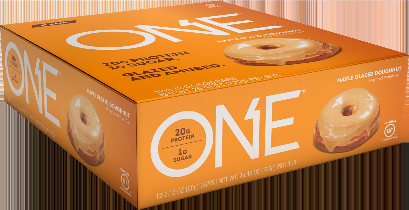 ONE Bars Maple Glazed Doughnut Protein Bar | Box of 12