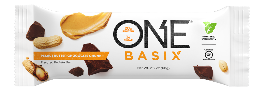 ONE Basix Peanut Butter Chocolate Chunk Protein Bar