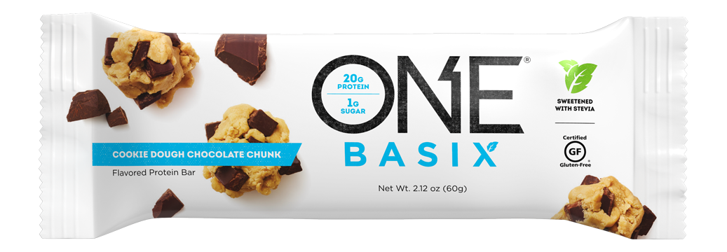 ONE Basix Cookie Dough Chocolate Chunk Protein Bar