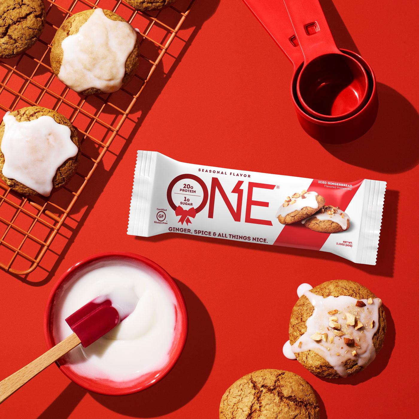 ONE Bar Iced Gingerbread Protein Bar | Seasonal Flavor