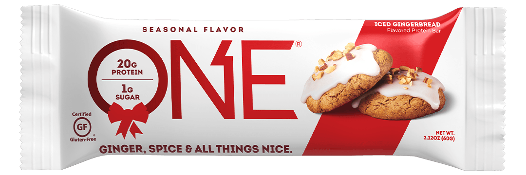 ONE Bars Seasonal Flavor Iced Gingerbread Protein Bar